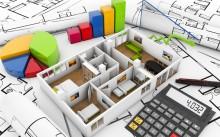 Макет квартиры, документы и калькулятор