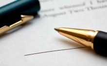 Договор и ручка